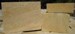 Perfectly flat sanded stone, for a modern look