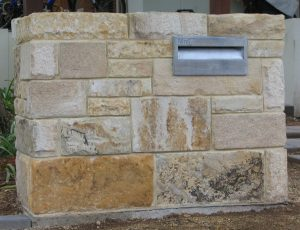 Quarry Face mail box to match the house